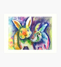 Rabbit Pals Art Print