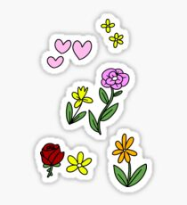Hearts and Flowers Sticker