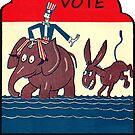 Wählen Sie republikanischen Vintage von hackeycard