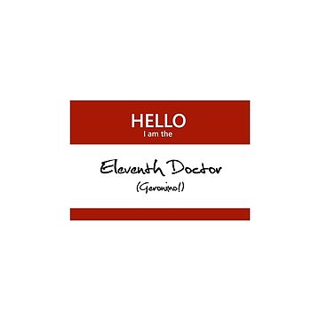 Eleventh Doctor Name Tag by blackoutart