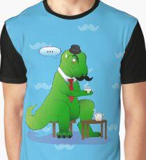 Tea Time T-Rex  Graphic T-Shirt