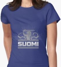Suomi Finland Lion V2 Women's Fitted T-Shirt