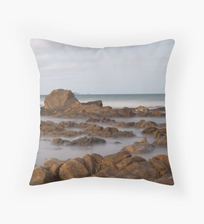 Rocks amidst the Mist Throw Pillow