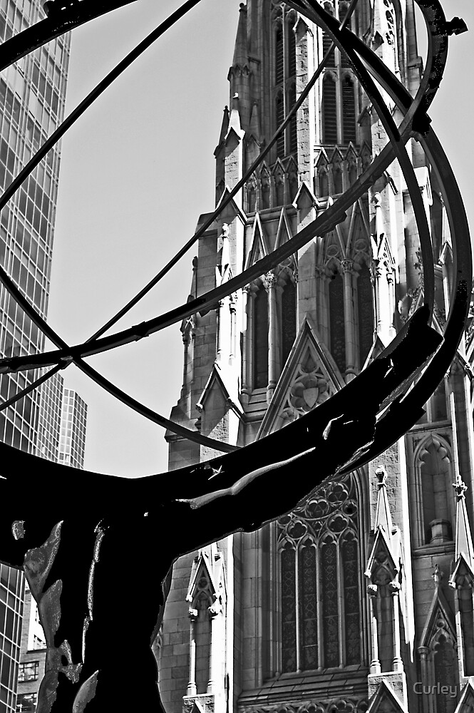 Atlas in front of Saint Patrick by Curley