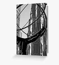 Atlas in front of Saint Patrick Greeting Card