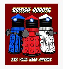 British Robots Photographic Print