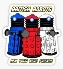 British Robots Sticker
