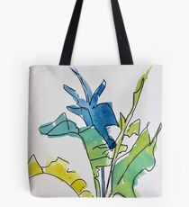 Tropical Spring Leaves Tote Bag