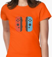 Nintendo Switch Joy Cons Womens Fitted T-Shirt