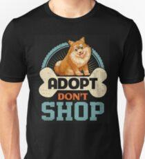 Adopt Don't Shop Pro Pet Adoption Tee Pomeranian Puppy Dog T-Shirt