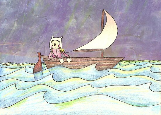 Sail boat by Cat Bruce
