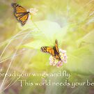 This world needs your beauty. by Donna Keevers Driver