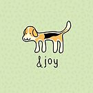 Cute Beagle Dog &joy Doodle by thejoyker1986