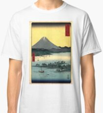 Japanese Art - View of Mount Fuji 24: The Pine Forest of Mio (1858) Classic T-Shirt