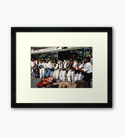 City Buskers Framed Print