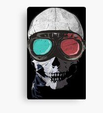 Psychedelly Skelly Canvas Print