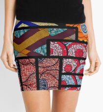 Minifalda Impresión africana