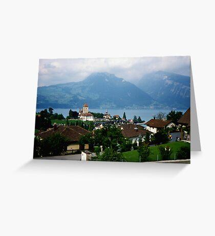 Spiez, Switzerland Greeting Card