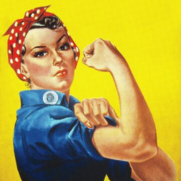 Rosie the Riveter - 'We Can Do It' half tone closeup version  by gshapley