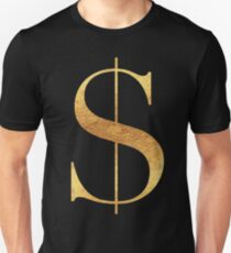Gold Money Bling Funds 3 stickers Unisex T-Shirt