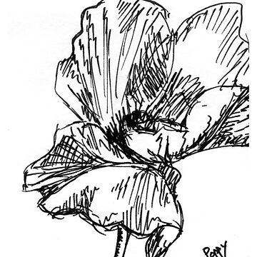Poppy Sketch by JuliaDream