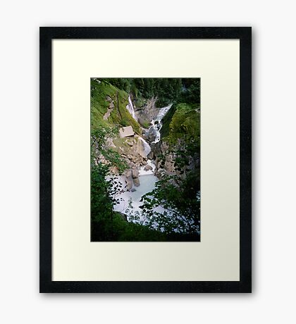 Reichbach Falls - view from above Framed Print