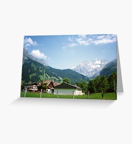 Kandersteg Mountains Greeting Card