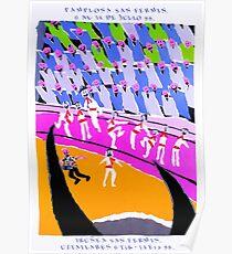 1988 Pamplona Spain Running of the Bulls Poster Poster