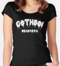 Gothboi Goth dunkle Streetwear Tumblr Design Tailliertes Rundhals-Shirt