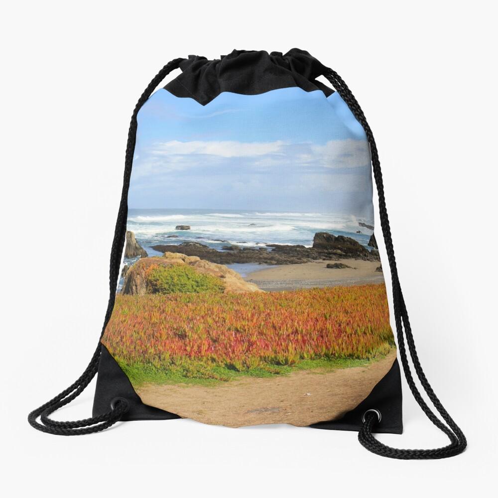 Glass Beach at Fort Bragg Drawstring Bag