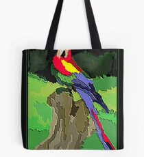 Textured Parrot Tote Bag