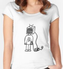 Wired In Retro Gamer Women's Fitted Scoop T-Shirt