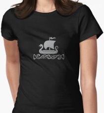 Dragon Boat - Silver Grey Women's Fitted T-Shirt