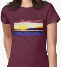 Sunset Symphony Womens Fitted T-Shirt