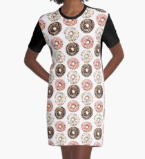 Triple Donut Stack Graphic T-Shirt Dress