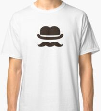 Twin bowler moustache Classic T-Shirt