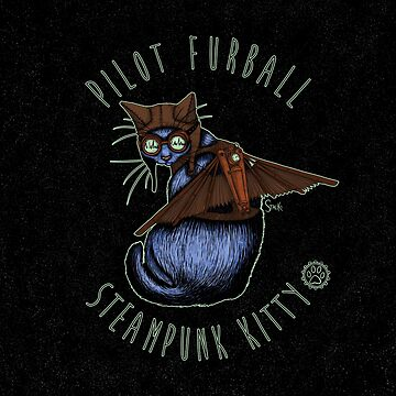 Pilot Furball: Steampunk Kitty by Stack