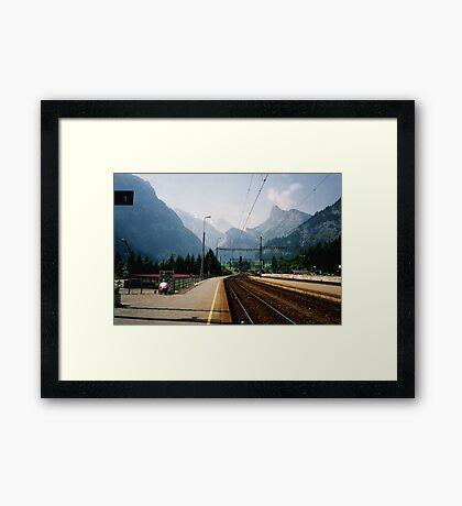 Kandersteg Train Station Framed Print