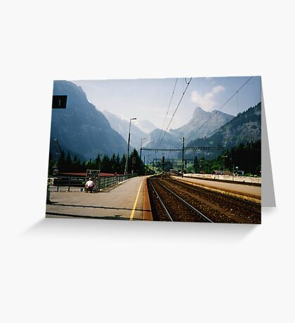 Kandersteg Train Station Greeting Card