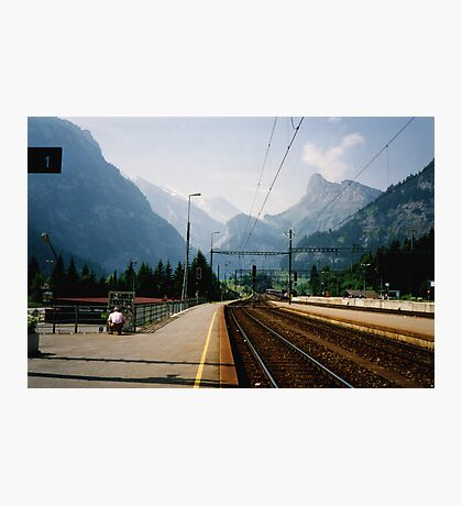 Kandersteg Train Station Photographic Print