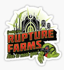 Greetings From Rupture Farms Sticker