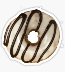Vanilla Frosted Donut with Chocolate Drizzle Sticker
