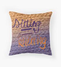 sitting=knitting Throw Pillow