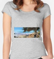 A Day at Coolum Women's Fitted Scoop T-Shirt