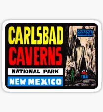 Carlsbad Caverns National Park New Mexico Vintage Travel Decal 2 Sticker