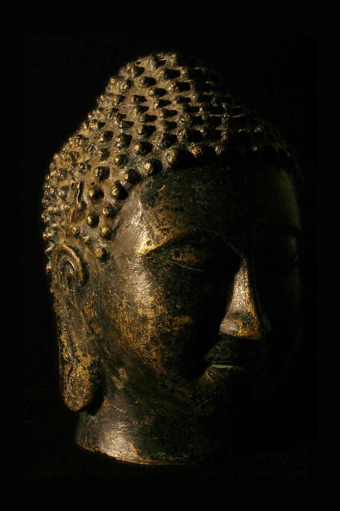Buddha Bronze Sculpture - Tryptic Left by Matthew Tyrrell
