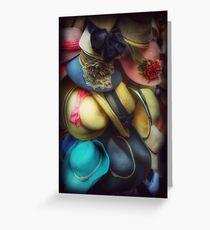Hats - A Cornucopia Of Color Greeting Card