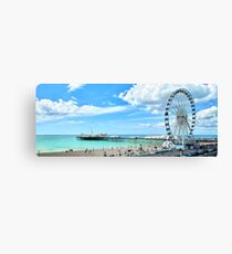 Brighton Wheel and Pier Canvas Print