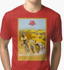 Camiseta de tejido mixto Strade Bianche Retro Cycling Art