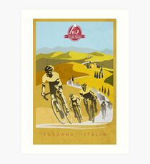Strade Bianche Retro Cycling Art Art Print